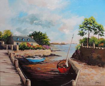 L'île de bréhat, le port de la corderie