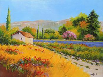 Le cabanon, paysage de Provence