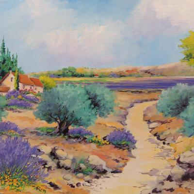 Paysage de Provence, Les Oliviers