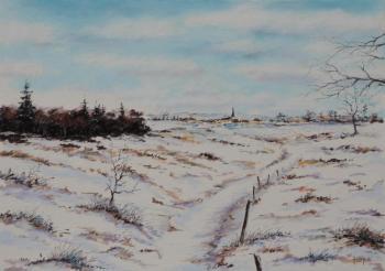 2013, paysage d'hiver, englesqueville